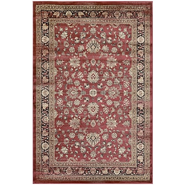 Charlton Home Connors Farahan Amulet Red /Black Area Rug; 3'1'' x 5'6''