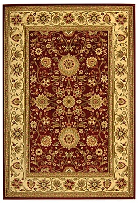 Charlton Home Ottis Red/Ivory Persian Area Rug; Rectangle 3'3'' x 5'3''