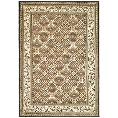 Charlton Home Patrick Ivory/Dark Brown Rug; Rectangle 4' x 5'7''