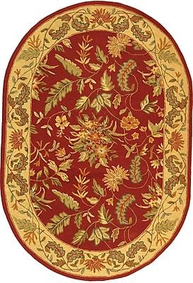 Charlton Home Helena Floral Area Rug; Rectangle 1'8'' x 2'6''