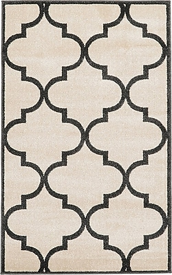 Charlton Home Moore Beige Area Rug; Rectangle 3'3'' x 3'3''