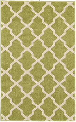 Charlton Home Moore Green Area Rug; Rectangle 3'3'' x 5'3''