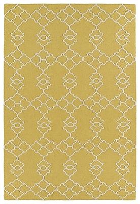 Charlton Home Bryant Handmade Gold Area Rug; 5' x 7'