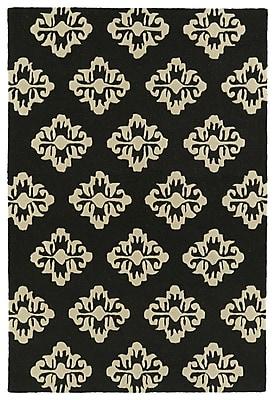 Charlton Home Bryant Handmade Black Area Rug; 5' x 7'