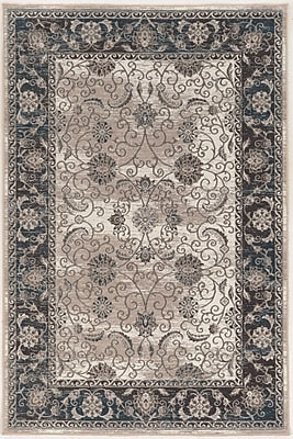 Charlton Home Coffield Beige/Gray Area Rug; Rectangle 9' x 12'