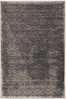 Charlton Home Coeur Beige/Gray Area Rug; Rectangle 5' x 7'6''