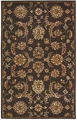 Charlton Home Cortese Handmade Charcoal/Brown Area Rug; 8' x 10'6''