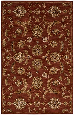 Charlton Home Cortese Hand-Woven Red/Brown Area Rug; 8' x 10'6''