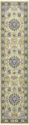 Charlton Home Courtright Green/Tan Area Rug; Runner 3' x 13'