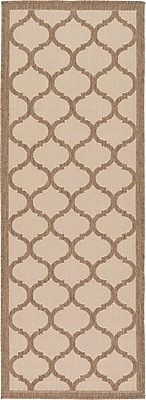 Charlton Home Stanwich Brown Outdoor Area Rug; Runner 2'2'' x 6'