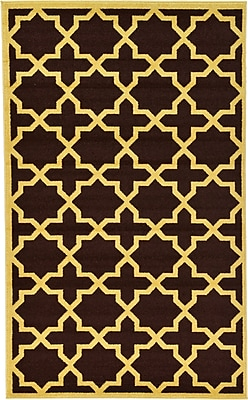 Charlton Home Moore Brown Area Rug; Rectangle 5' x 8'
