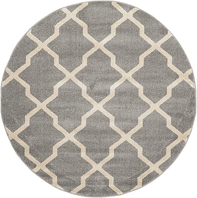 Charlton Home Moore Gray Area Rug; Round 6'
