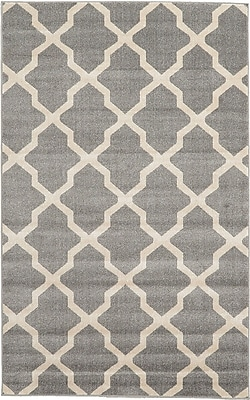 Charlton Home Moore Gray Area Rug; Rectangle 5' x 8'
