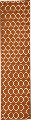 Charlton Home Moore Rust Area Rug; Runner 2'7'' x 10'