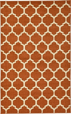 Charlton Home Moore Rust Area Rug; Rectangle 2'2'' x 3'