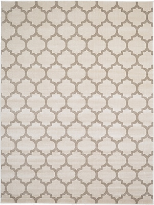 Charlton Home Moore Beige & Tan Area Rug; Rectangle 9' x 12'