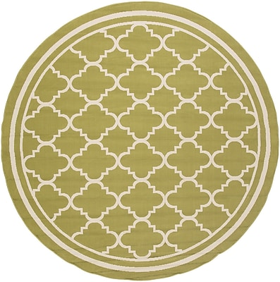 Charlton Home Osage Indoor/Outdoor Area Rug; Round 7'10''