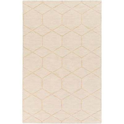 Charlton Home Peever Hand-Loomed Khaki Area Rug; Rectangle 2' x 3'