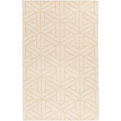 Charlton Home Peever Hand-Loomed Khaki Area Rug; 8' x 11'