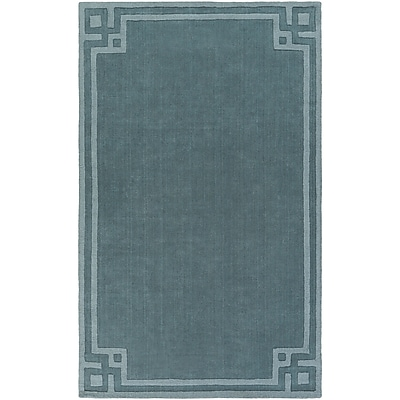 Charlton Home Peever Hand-Loomed Teal Area Rug; Rectangle 8' x 11'