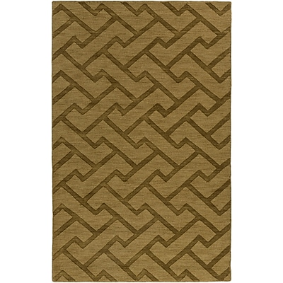 Charlton Home Peever Hand-Loomed Olive Area Rug; 3'3'' x 5'3''