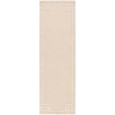 Charlton Home Peever Hand-Loomed Beige Area Rug; Runner 2'6'' x 8'
