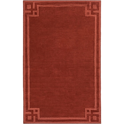 Charlton Home Peever Hand-Loomed Rust Area Rug; Rectangle 8' x 11'