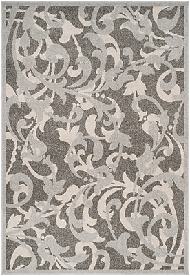 Charlton Home Neil Gray/Light Gray Indoor/Outdoor Area Rug; Rectangle 3' x 5'