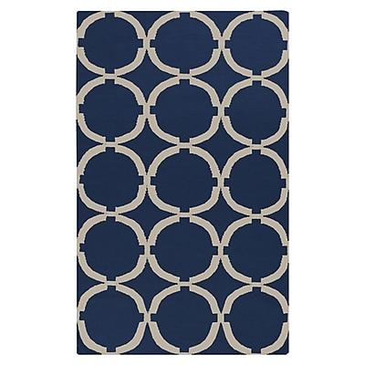 Charlton Home Atkins Midnight Blue Area Rug; 5' x 8'