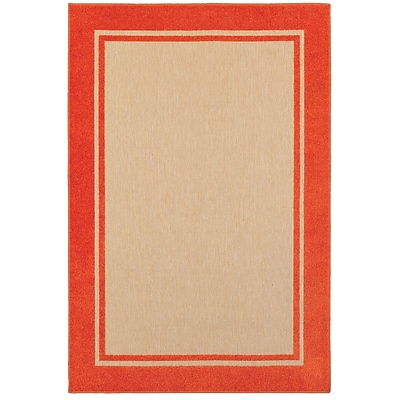 Charlton Home Winchcombe Sand/Orange Outdoor Area Rug; 5'3'' x 7'6''