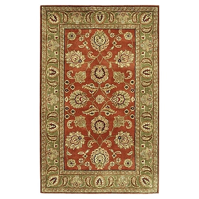 Charlton Home Stanford Dark Rust Rug; Rectangle 5' x 8'