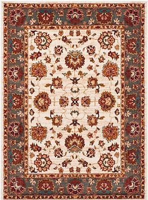 Charlton Home Lowe Beige/Gray Area Rug; Rectangle 5'1'' x 7'6''