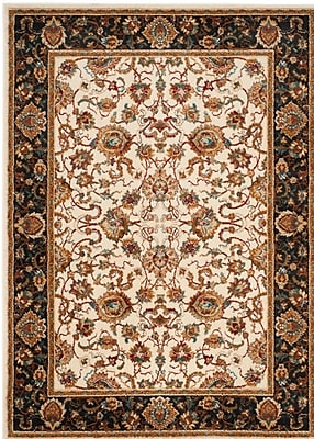Charlton Home Lowe Beige/Brown Area Rug; Rectangle 3' x 5'