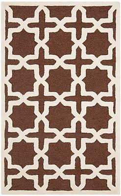 Charlton Home Brunswick Brown/Beige Area Rug; Rectangle 3' x 5'