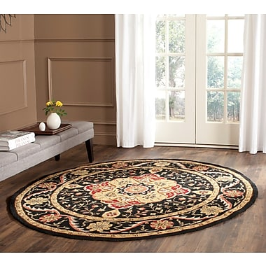 Charlton Home Bryonhall Hand Hooked Area Rug; Round 8'