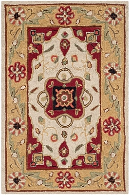 Charlton Home Bryonhall Hand Hooked Area Rug; Rectangle 3' x 5'