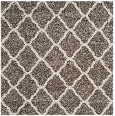 Charlton Home Buford Gray/Ivory Area Rug; Square 7'