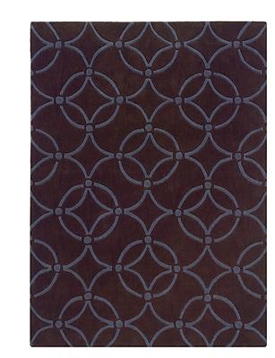 Charlton Home Columban Hand-Tufted Chocolate/Blue Area Rug; 5' x 7'