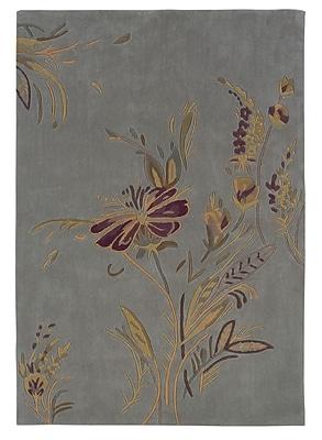 Charlton Home Columban Hand-Tufted Blue/Gold Area Rug; 5' x 7'
