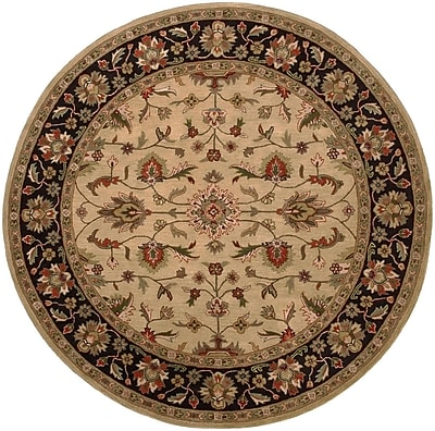 Charlton Home Stanford Gold/Charcoal Rug; Round 8'
