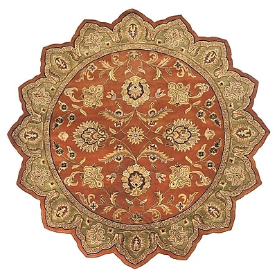 Charlton Home Stanford Dark Rust Rug; Novelty 8' x 8'