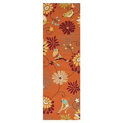 Charlton Home Schmitt Multi-Colored AreaIndoor/Outdoor Area Rug; Runner 2'6'' x 8'