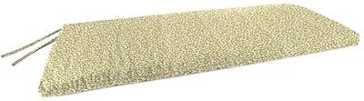 Charlton Home Indoor Bench Cushion; Coral Curl Sandcastle