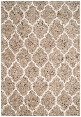 Charlton Home Parnassus Hand-Tufted Silver/Ivory Area Rug; Rectangle 5' x 8'