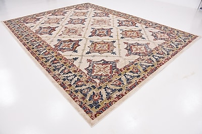 Charlton Home Applewood Cream Area Rug; Rectangle 9' x 12'