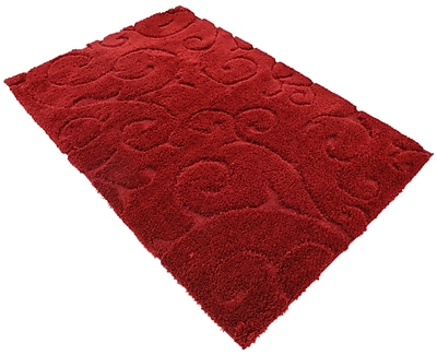 Charlton Home Baynes Floral Red Area Rug; 9' x 12'