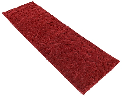 Charlton Home Baynes Floral Red Area Rug; Runner 2' x 6'7''