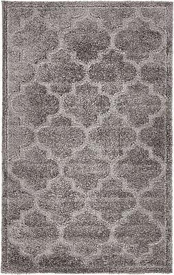 Charlton Home Moore Dark Gray Area Rug; Rectangle 5' x 8'