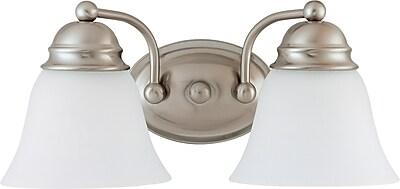Charlton Home Poneto 2-Light LED Vanity Light; Brushed Nickel