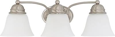 Charlton Home Poneto 3-Light LED Vanity Light; Brushed Nickel